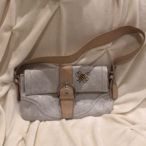 Coach Purse with Bubble Bee